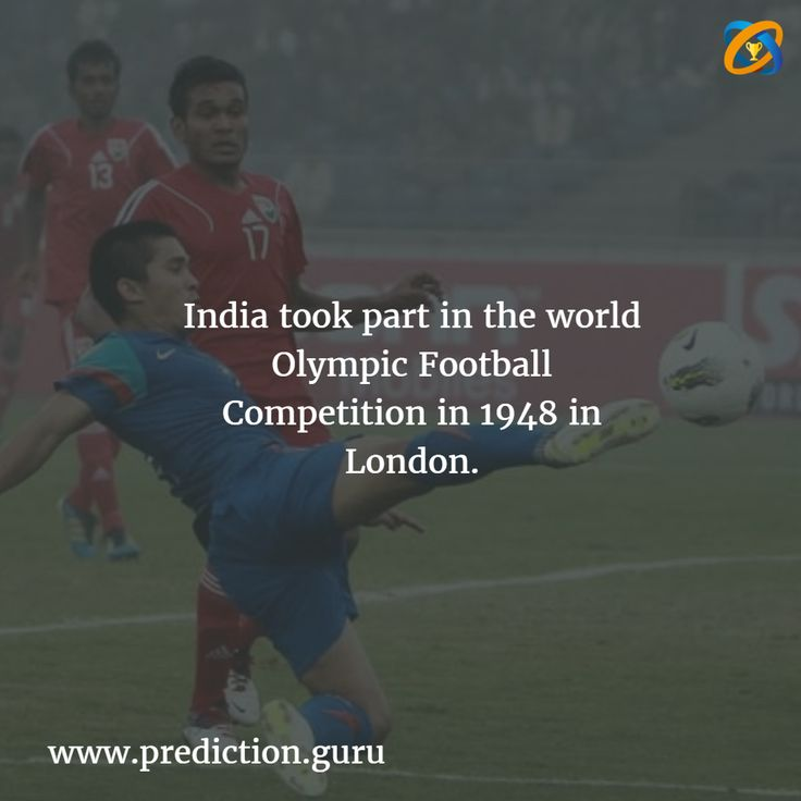 #India took #part in the world #Olympic Football #Competition in 1948 in #London.