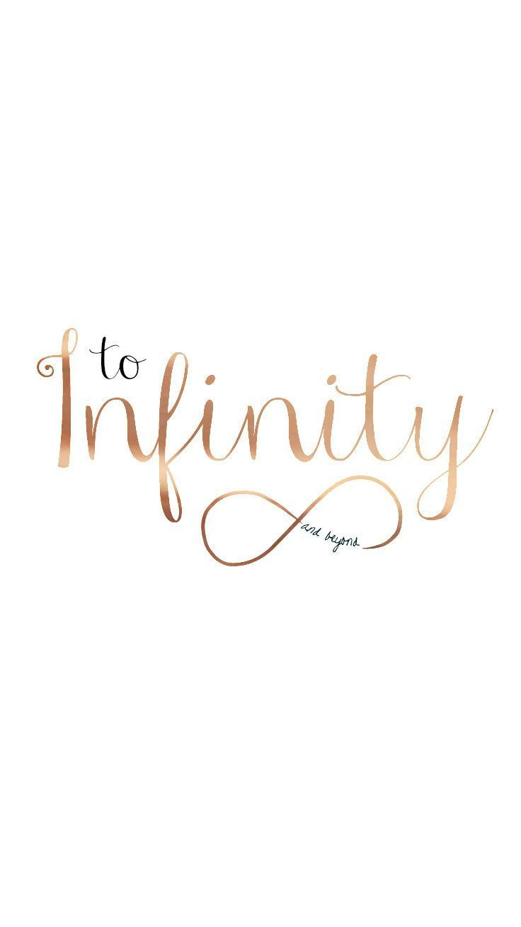Preppy Original ★ To Infinity and Beyond iPhone Wallpaper Quote