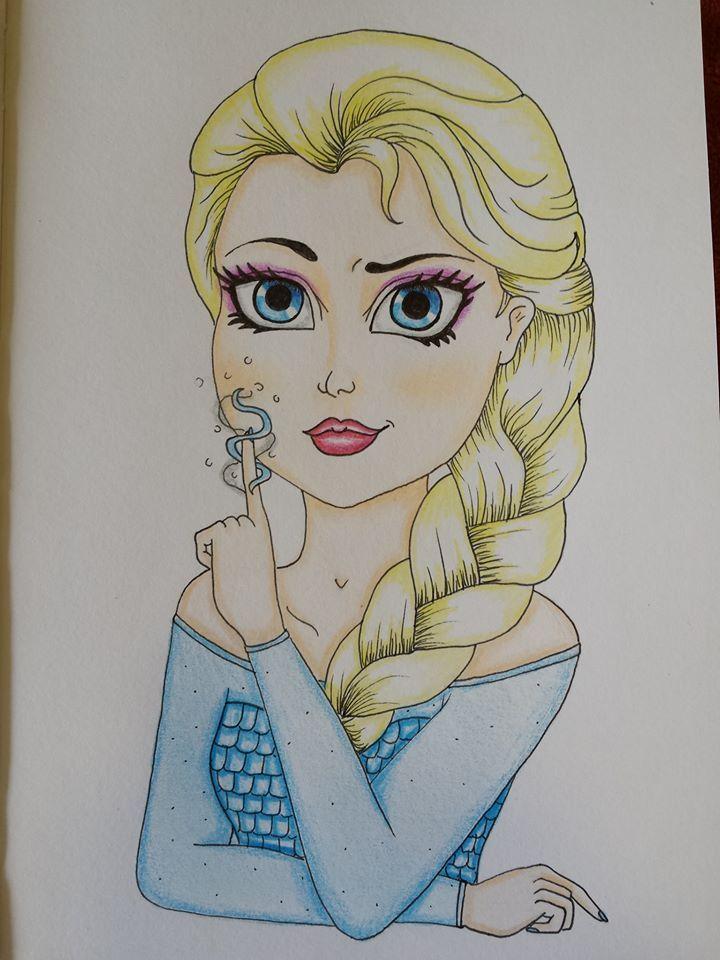 elsa drawing