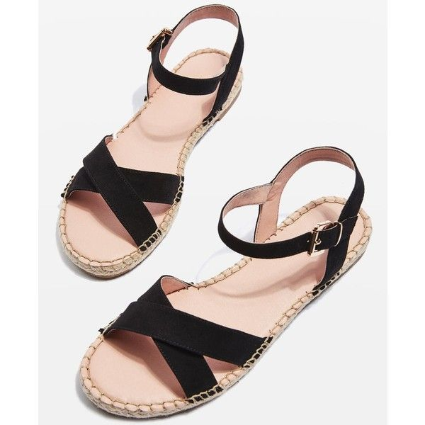 Topshop Eddy Espadrille Sandals ($31) ❤ liked on Polyvore featuring shoes, sandals, topshop espadrilles, topshop sandals, espadrilles shoes, summer footwear and espadrille sandals