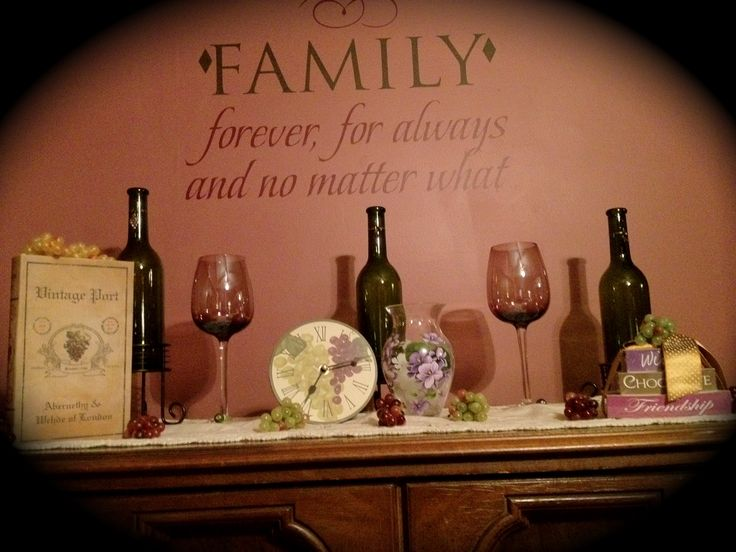 Wine themed dining room  Home Decor  Kitchen decor Grape kitchen decor Kitchen decor themes