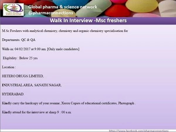 hetero labs hiring freshers cdisc sdtm science jobs google - Resume For Life Science Freshers