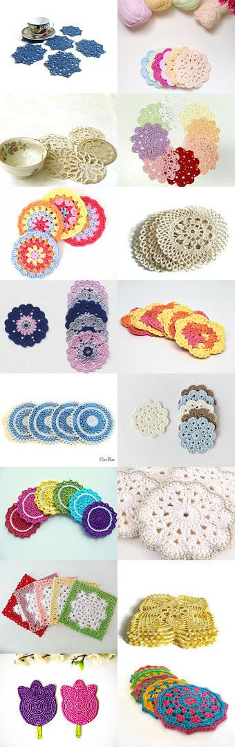 maRRose - CCC: Treasury Tuesday - Crochet Coasters by Marianne Dekkers-Roos on Etsy--Pinned+with+TreasuryPin.com
