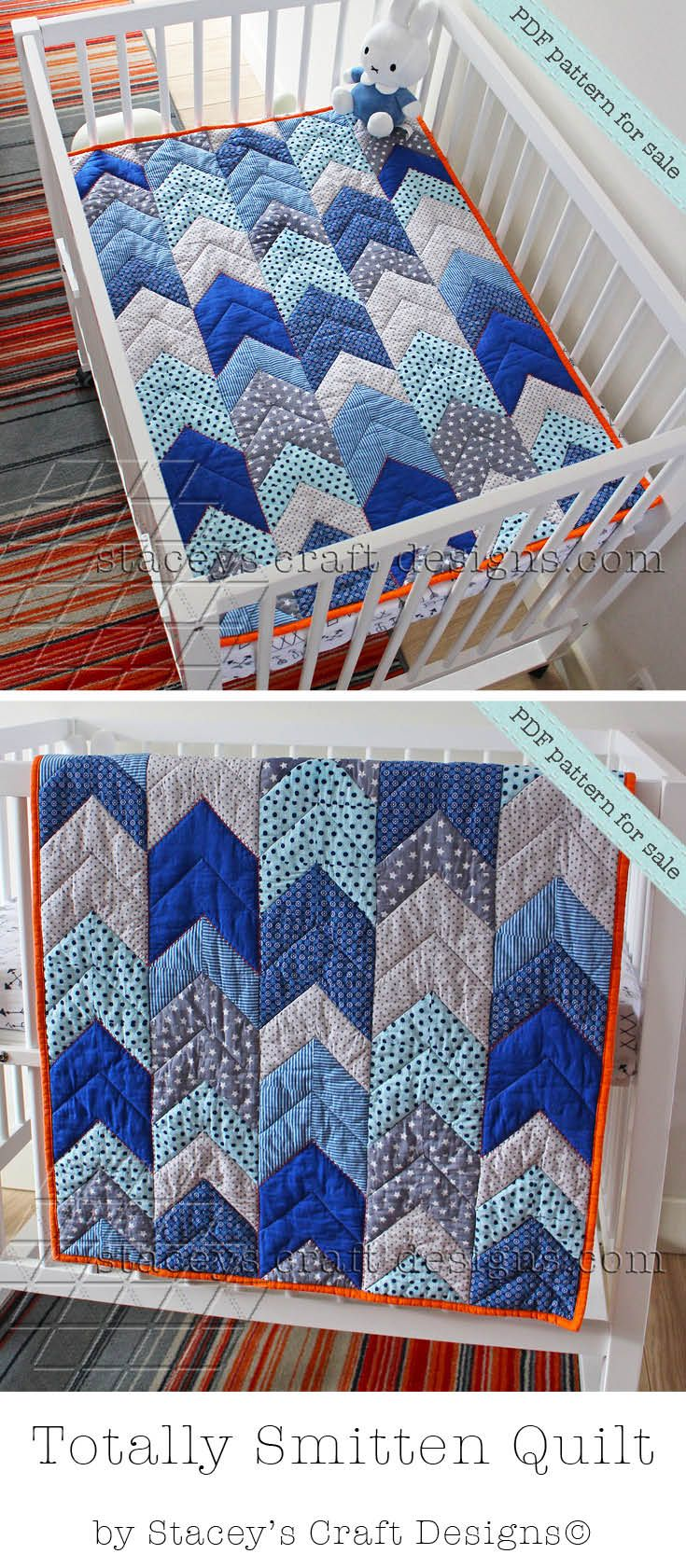 Totally Smitten quilt pattern by Stacey's Craft Designs