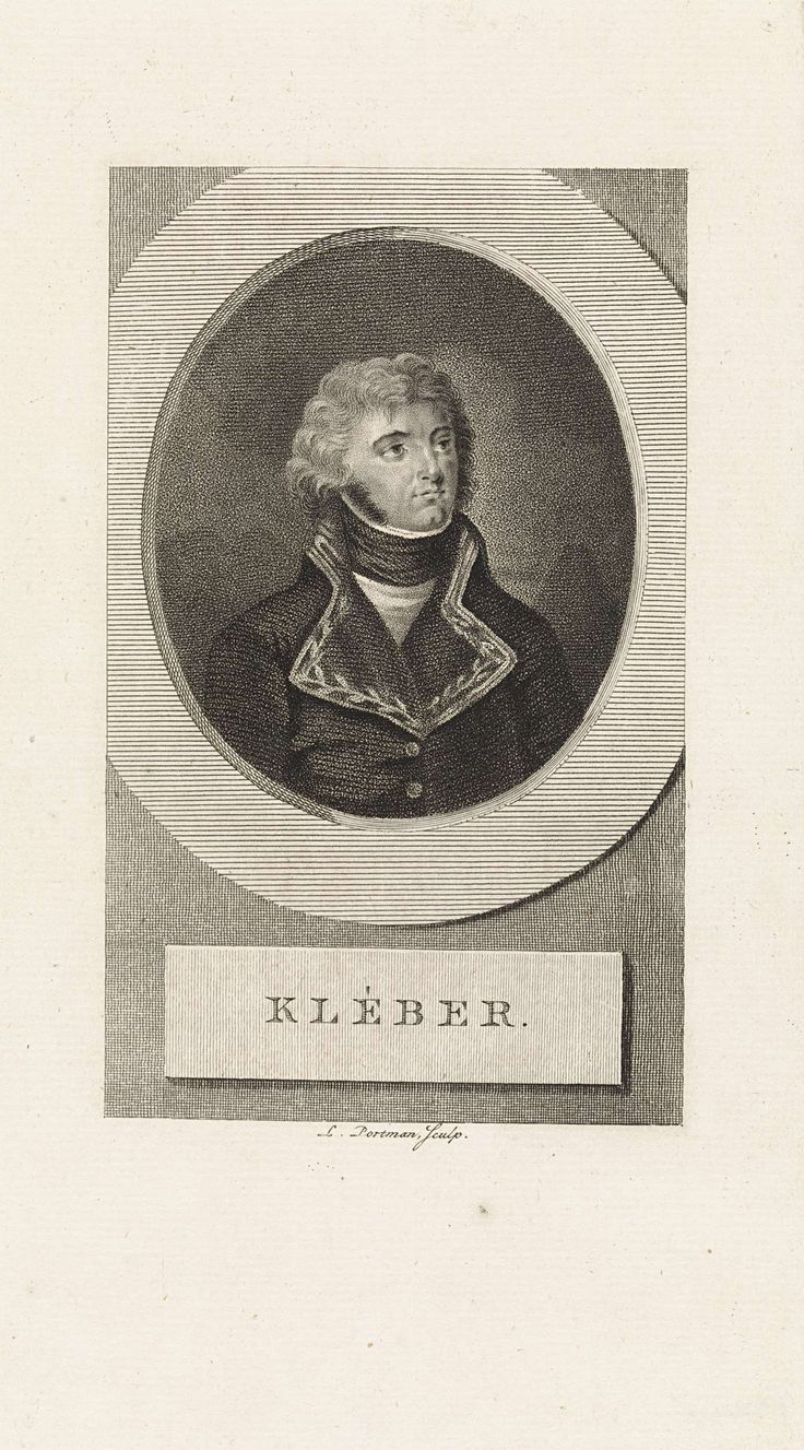 Ludwig Gottlieb Portman | Portret van de Franse generaal Jean-Baptiste Kléber, Ludwig Gottlieb Portman, 1807 |