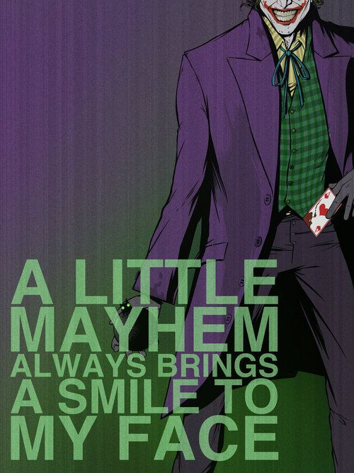 Joker was my 2nd favorite Batman villain when I was a child. I loved his clothes. - V