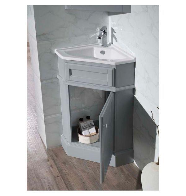 Stufurhome Ty 415gy 17 75 In Bathroom Vanity In 2019 Corner