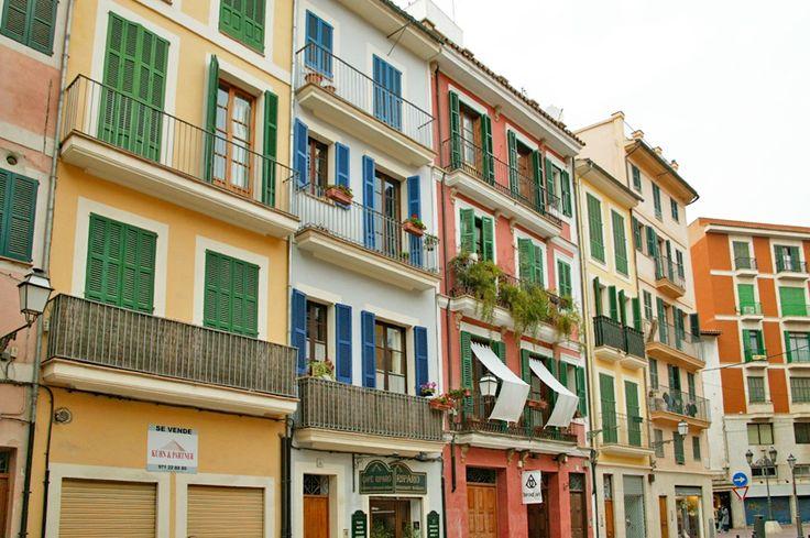 Palma de Mallorca Häuser an einem Großen Platz