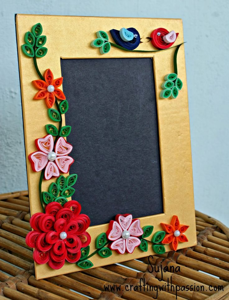 26 Best Quilled Frame Images On Pinterest Quilling