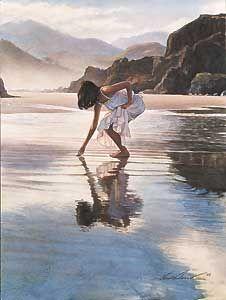Treasures on the Shore - Steve Hanks - World-Wide-Art.com - $145.00