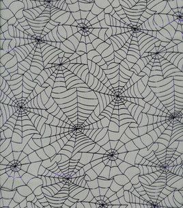 halloween spirit collection purple webs mesh black hi res - Halloween Lace Fabric