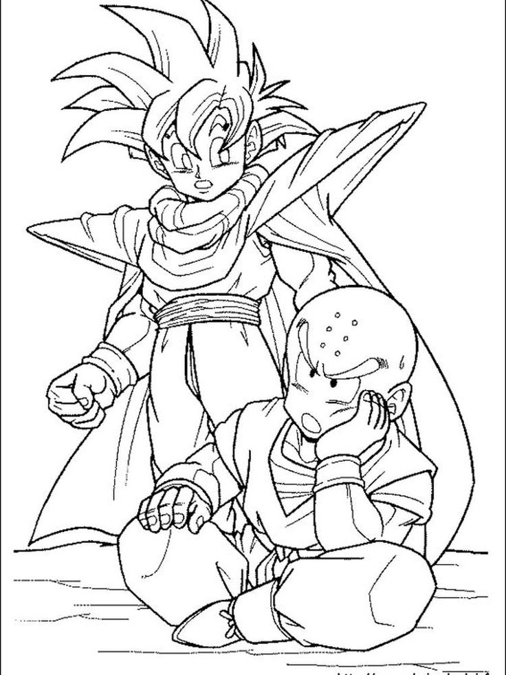Dragon ball z characters in 2020 cartoon coloring pages