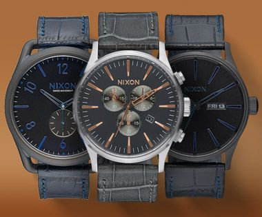 The Animal Style Watch Collection by Nixon is a rare breed. Detailed etching reflects gator leathers to create exotic textured bands for some of our favorite timepieces.