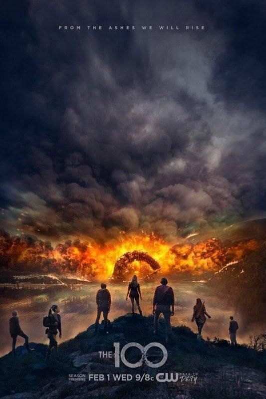 """The 100: Season 4 Poster Gets Explosive  The CW has released an explosive new poster for The 100's upcoming fourth season.  Eliza Taylor's Clarke is seen in the middle of the foreground as she and several other 100 characters look towards a massive explosion that seems to have engulfed Arkadia. The poster reads """"From the ashes we will rise.""""  New poster for The 100: Season 4  The 100's fourth season kicks off February 1 at 9/8c on The CW. While you wait catch up with IGN's The 100: Season 3…"""