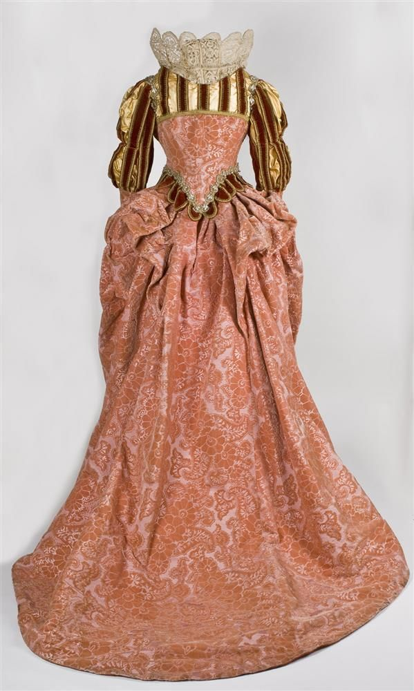 Worth, French, Fancy Dress Costume [back view], late 19th century, Velvet, satin, and lace, dress. Wadsworth Atheneum Collection. Object ID: 1972.101A-E