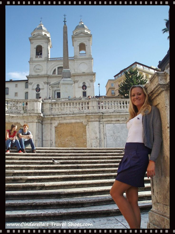 Me on the Spanish Steps in Rome, Italy
