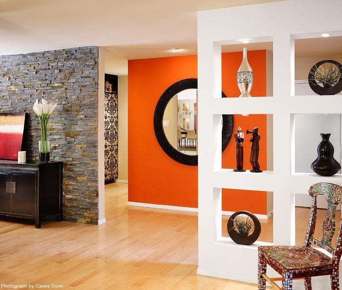 Die besten 25+ Wände mit orangem akzent Ideen auf Pinterest - wohnzimmer orange braun