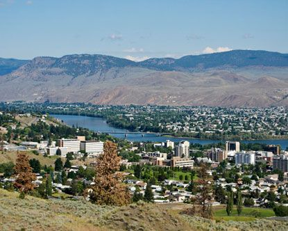 The City Of Kamloops in Kamloops, BC - another place we stop along the way.  I love how the terrain changes here suddenly