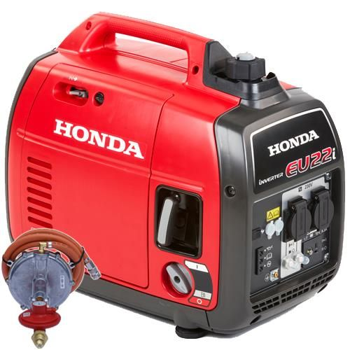 *CLICK TO ENLARGE* Honda EU22i 2200W Silent Portable 'Suitcase' Inverter Generator (Petrol/LPG)