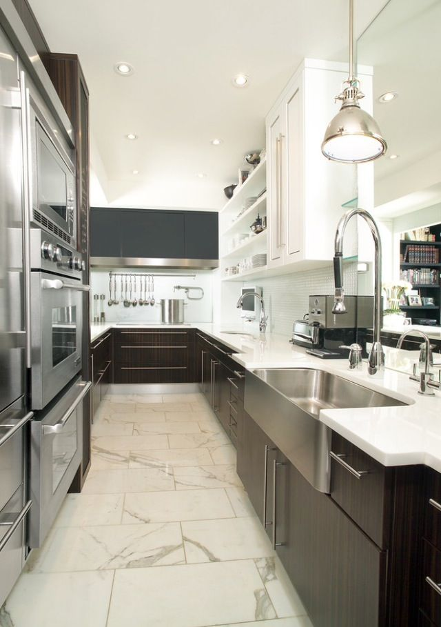 Galley kitchen home decor pinterest for Kitchen design 10 5 full patch