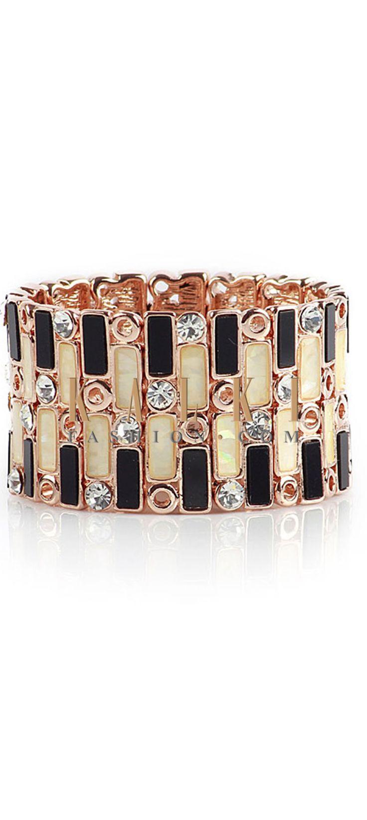 Buy Online from the link below http://www.kalkifashion.com/high-shine-rose-gold-bracelet.html