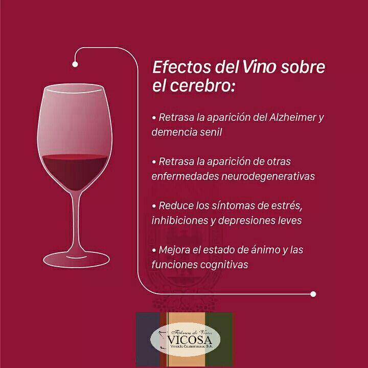 Efectos del vino sobre el cerebro.