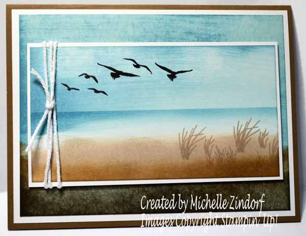 High Tide Stampin' Up! Card created by Michelle Zindorf