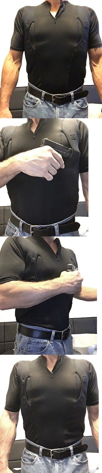Tactical Clothing 177896: Medium Ss-Men S Black Concealed Carry Tactical Holster Shirt W 7Inch Zipper -> BUY IT NOW ONLY: $37 on eBay!