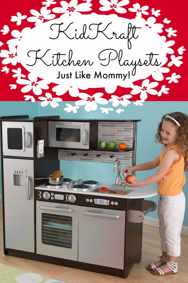 Pretend Kitchens just like Moms with KidKraft Kitchen Playsets. Modern or Vintage? Which will you choose?