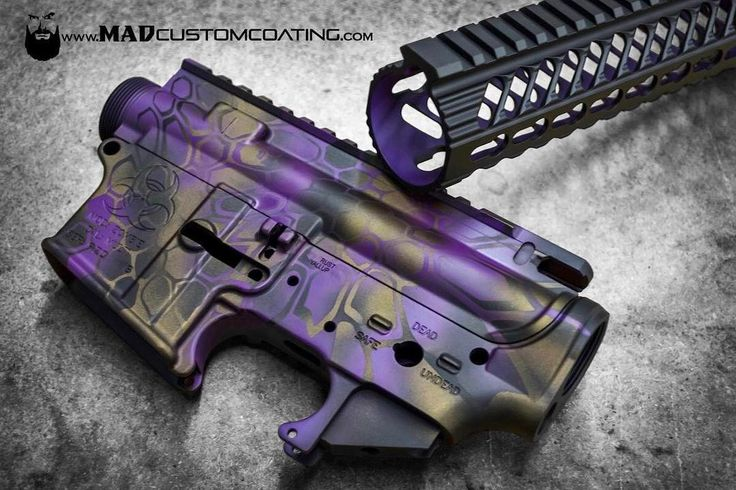 MAD Dragon Camo in MAD Purple MAD Black & Burnt Bronze.  #cerakoteMADness #camo #purple #cerakote #MADBlack #USA #America #MADLabel