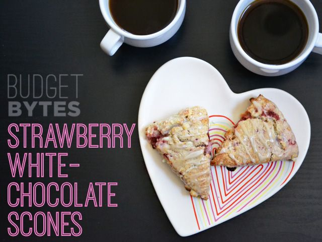 Strawberry White Chocolate Scones - Budget Bytes