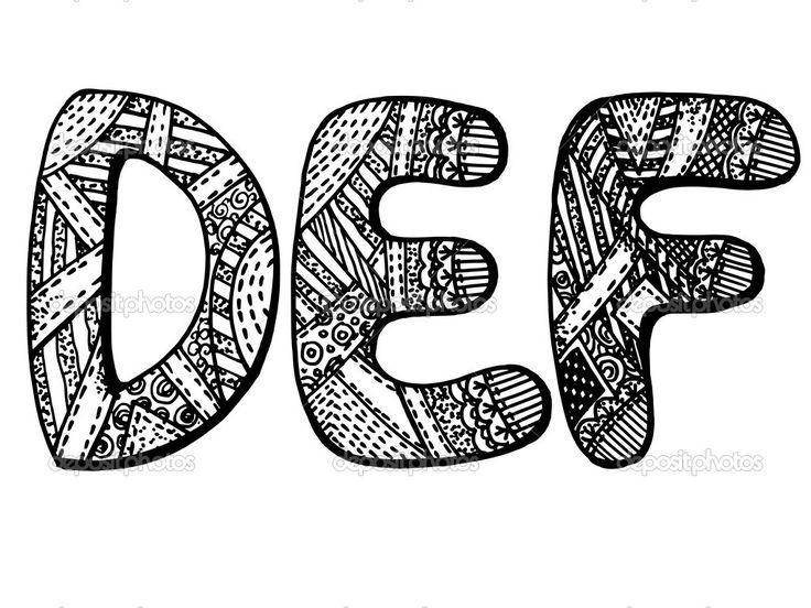 grafica vettoriale, artistico, stilizzata immagine delle lettere dell'alfabeto - Illustrazione vettoriale: 43706583