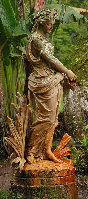 Garden statue ....