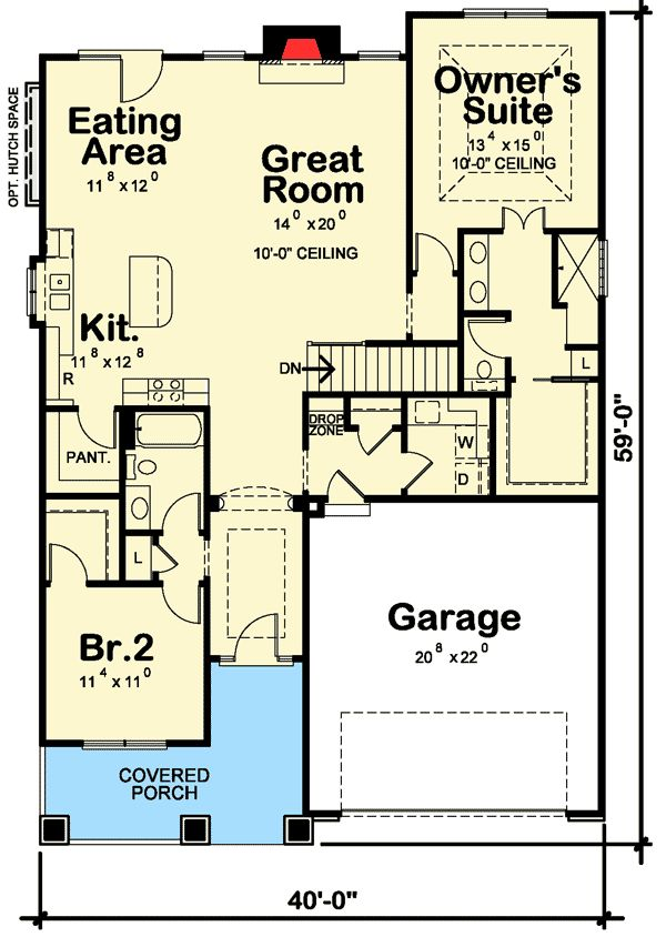 2 Bed Getaway with Options - 42340DB | Craftsman, Northwest, Photo Gallery, 1st Floor Master Suite, Butler Walk-in Pantry, CAD Available, PDF, Split Bedrooms, Sloping Lot | Architectural Designs