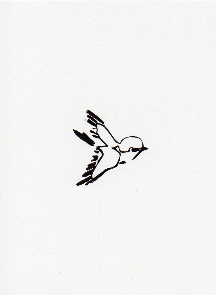 Little bird 3 linocut print 5 x 7.