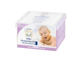 Ainu Pumpulipuikot http://www.ainu.fi/tuotteet/ainu-pumpulipuikot