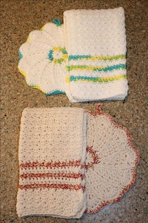 Free Kitchen Crochet Patterns Scalloped Potholder And Dorthea