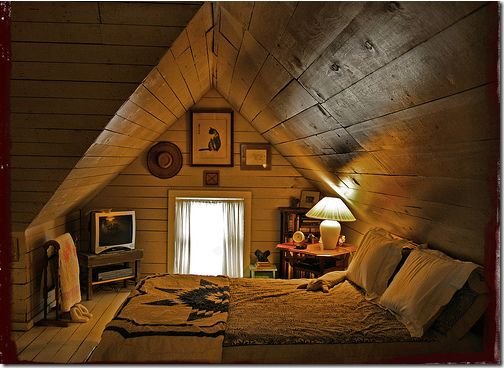 To have an extra chamber in the attic with big TV, big window and big,big bed, where I can just roll around and spend a lazy time when I feel like it!