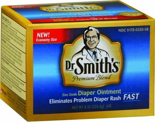 Dr. Smiths Diaper Ointment, 8 ounce by Dr. Smith's Diaper Ointment. $17.15. Dr. Smiths OTC premium blend diaper ointment zinc oxide 10%. Helps treat and prevent diaper rash. Protects chafed skin due to diaper rash and helps seal out wetness.