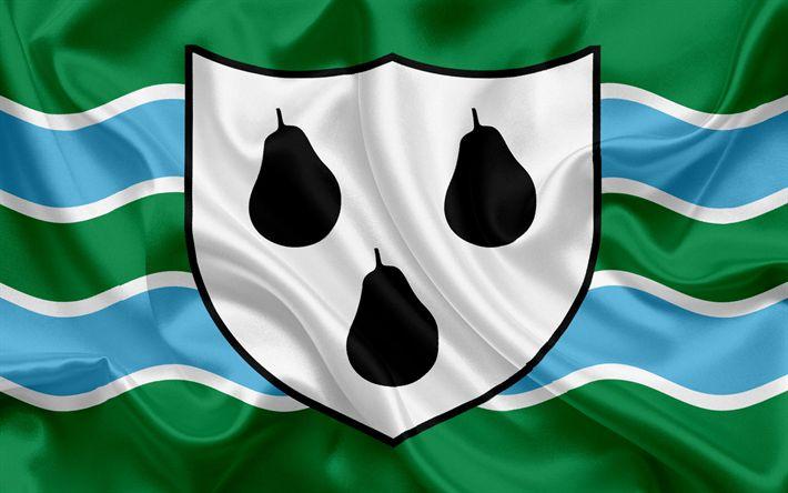 Scarica sfondi Contea di Worcestershire Bandiera, Inghilterra, bandiere delle contee inglesi, Bandiera del Worcestershire, British Contea di Bandiere, di seta, bandiera, Worcestershire