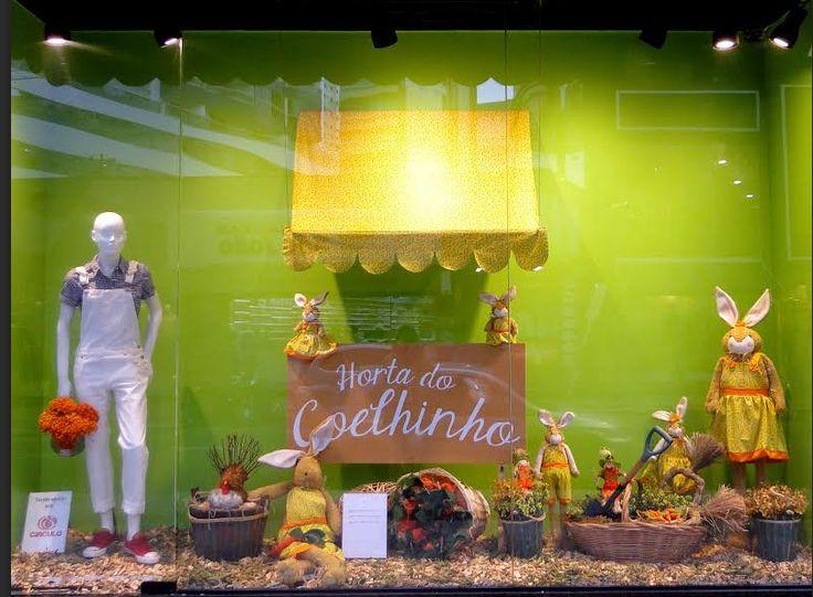 Vitrine Páscoa 2016 - Horta dos Coelhinhos - Cenouras orgânicas - Easter decoration - Decoração e Páscoa - Colaboração Círculo