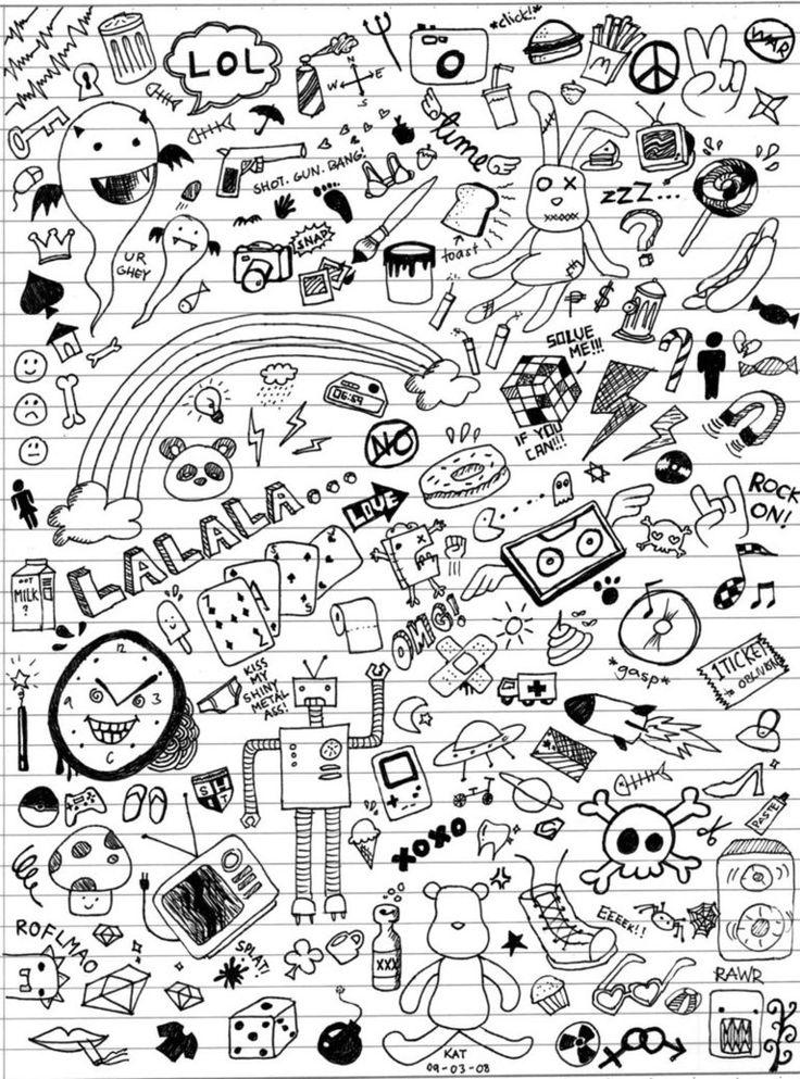 Doodle art class doodles by katmcgeer on deviantart for Random cute drawings