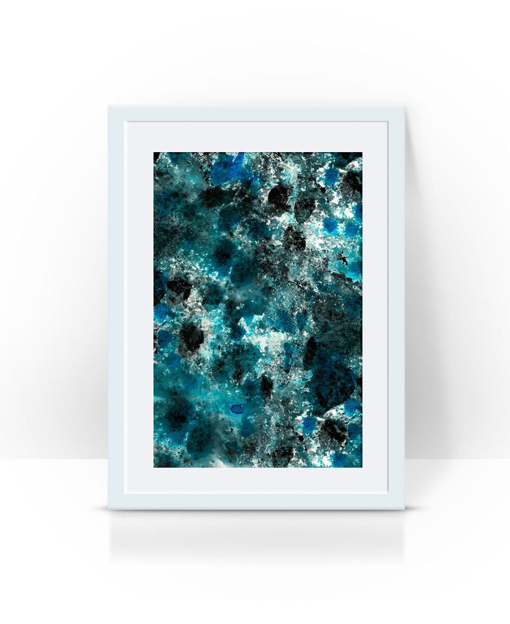 emerald abstract , limited edition print by PeachyArtandTreasure on Etsy