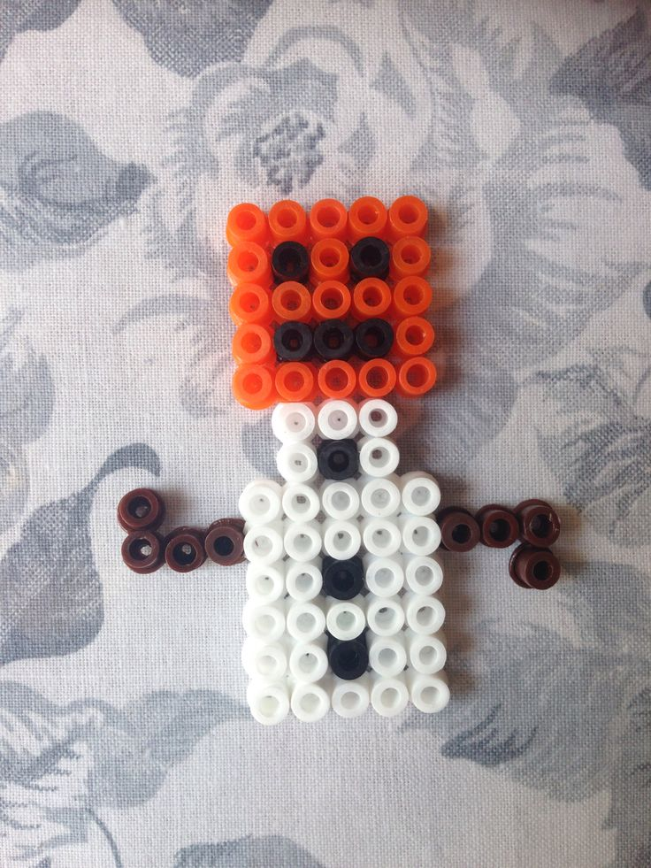 Snow Golem Minecraft Ironing Beads Strijkkralen
