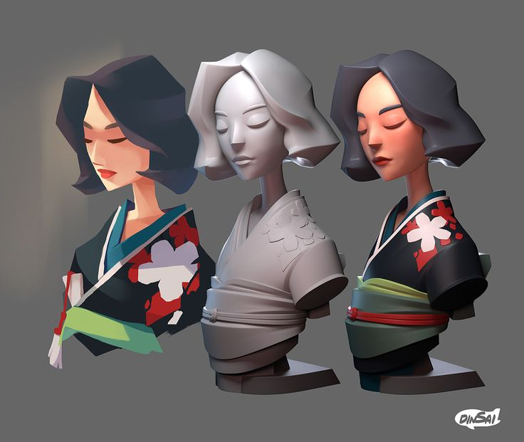 Title: KIMONO    Name: Kontorn Boonyanate    'Kimono'   Project being developed by 'Dinsai' team.   You can see other works on our page : https://www.facebook.com/dinsaicharacter/  instagram : https://www.instagram.com/dinsai.studio/    3d model/render by : Dongk   Concept ar...