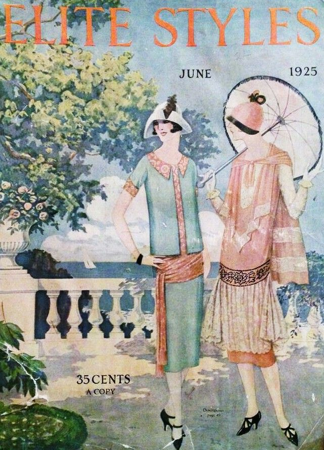 1925 June Magazine Illustration Fashion Magazine Cover Vintage