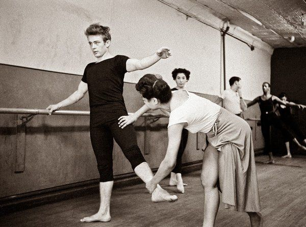 James Dean attending a dance class. NYC, 1955. Photograph by Dennis Stock.
