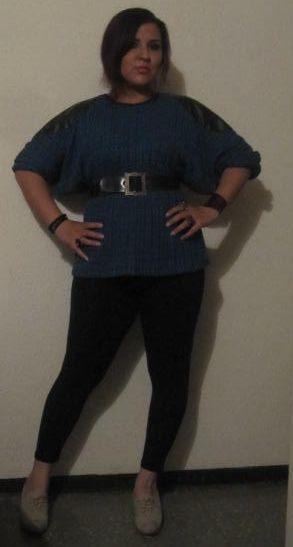 Buso ranglan en tejido y cuerina  #plus $30.000 COP (no incluye cinturon) *agotado en azul, preguntar disponibilidad de colores