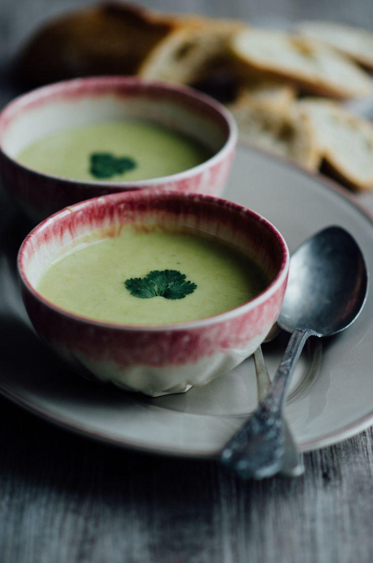 Sopa cremosa de batata e ervilhas Azeitona Verde | www.azeitonaverde.pt