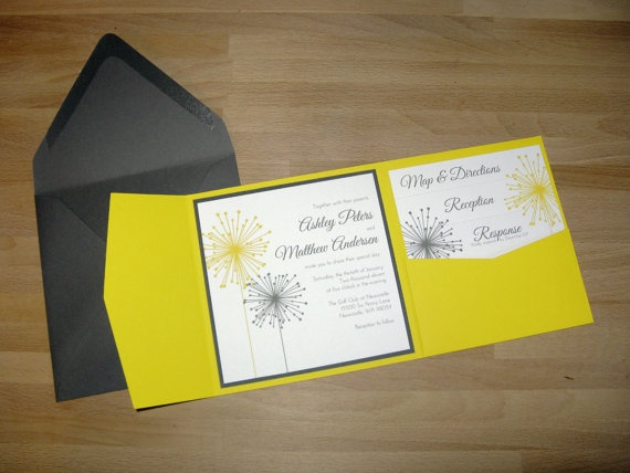 Sparklers Pocket Fold Wedding Invitations Pocketfold by ImpressInk, $50.00